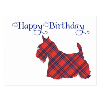 Scottish Terrier Tartan Silhouette Postcards