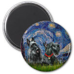 Scottish Terrier (two blk) - Starry Night Magnet