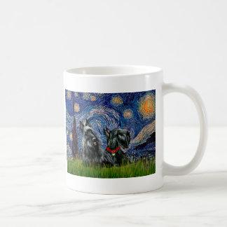 Scottish Terrier (two blk) - Starry Night Mugs