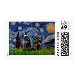 Scottish Terrier (two blk) - Starry Night Stamp