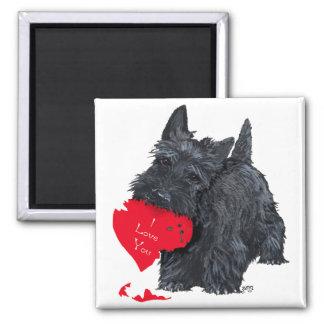 Scottish Terrier Valentine 2 Inch Square Magnet