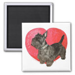 Scottish Terrier Valentine Fridge Magnet