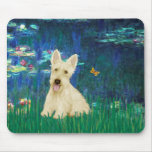 Scottish Terrier (W5) - Lilies 5 Mouse Pad