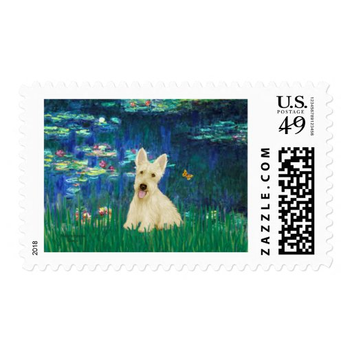 Scottish Terrier (W5) - Lilies 5 Postage Stamps