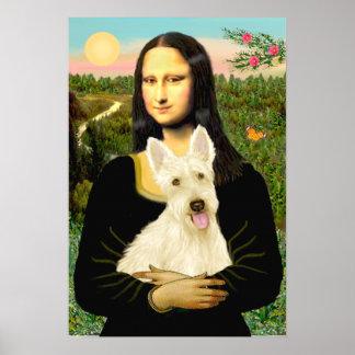 Scottish Terrier (W5) - MonaLisa Poster