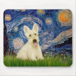 Scottish Terrier (W5) - Starry Night Mouse Pad