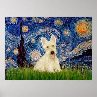 Scottish Terrier (W5) - Starry Night Print