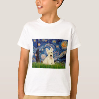 Scottish Terrier (W5) - Starry Night T-Shirt