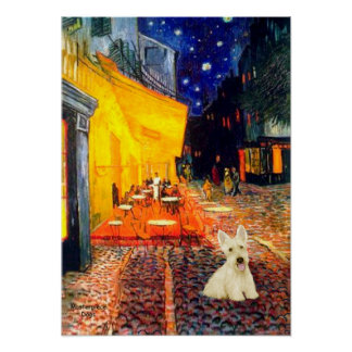 Scottish Terrier (W5) - Terrace Cafe Poster