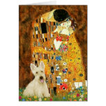 Scottish Terrier (W5) - The Kiss Greeting Card