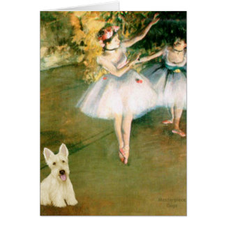 Scottish Terrier (W5) - Two Dancers Greeting Card
