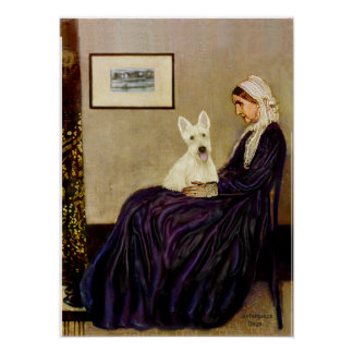 Scottish Terrier (W5) - Whistlers Mother Poster
