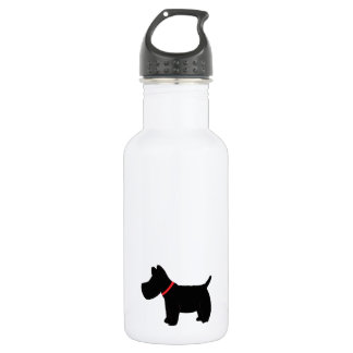 Scottish Terrier w/Red Collar Stainless Steel Water Bottle