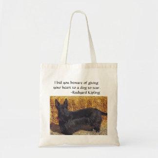 Scottish Terrier w/ Rudyard Kipling saying Tote Bag