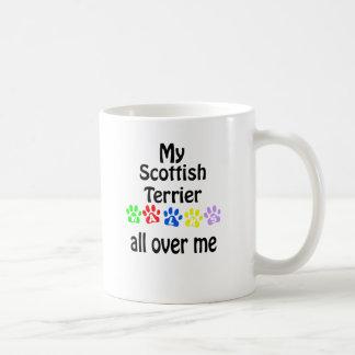 Scottish Terrier Walks Design Classic White Coffee Mug