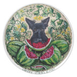 Scottish Terrier Watermelons Party Plates