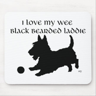 Scottish Terrier - Wee Black Bearded Laddie Mouse Pad