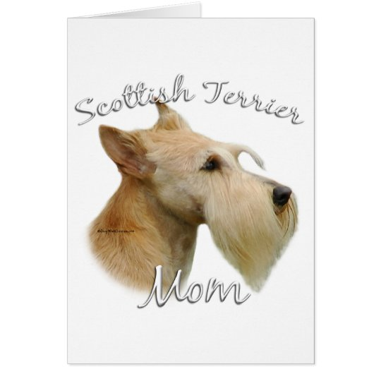Scottish Terrier (wheaten) Mom 2 Card