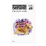 Scottish Terrier (wheaten) Patriot Stamp