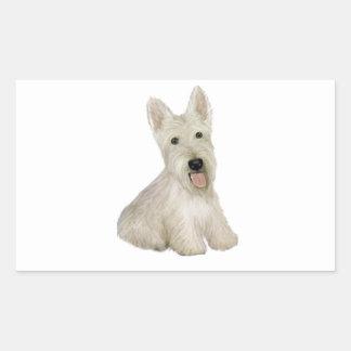 Scottish Terrier - wheaten Rectangular Sticker