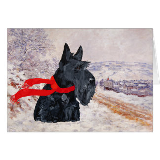 Scottish Terrier Winter Holiday Cards