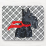 Scottish Terrier Winter Holiday Mouse Pad