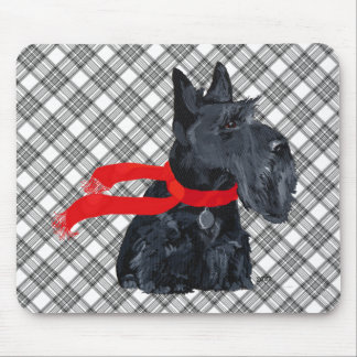 Scottish Terrier Winter Holiday Mousepads