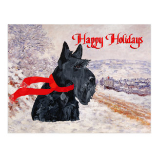 Scottish Terrier Winter Holiday Post Cards