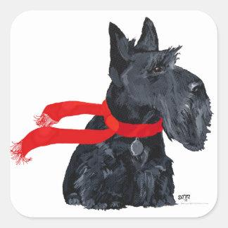 Scottish Terrier Winter Holiday Sticker
