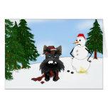 Scottish Terrier Winter Scene Greeting Cards