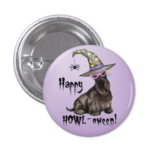Scottish Terrier Witch Pinback Button