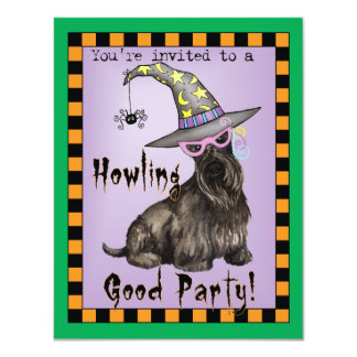 Scottish Terrier Witch Card