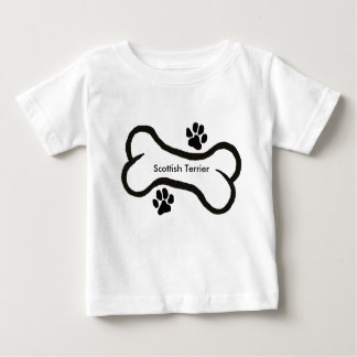 Scottish Terrier with Bone N Pawprint T-shirts