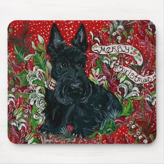Scottish Terrier Xmas Mouse Pad