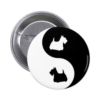 Scottish Terrier Yin Yang Pin