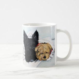 Scottish Terrier & Yorkie Best Friends Coffee Mugs
