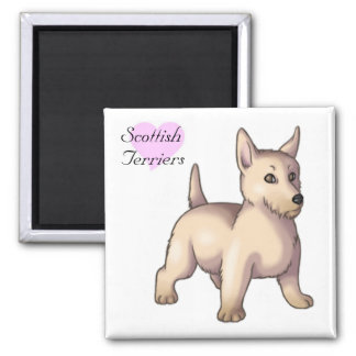 Scottish Terriers 2 Inch Square Magnet