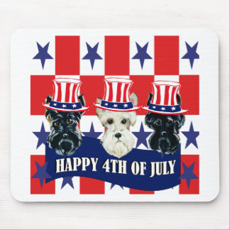 Scottish Terriers 4th of July Mousepad