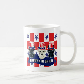 Scottish Terriers 4th of July Coffee Mugs