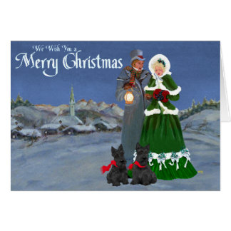 Scottish Terriers Christmas Carol Greeting Cards