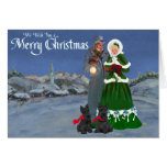 Scottish Terriers Christmas Carol Greeting Card