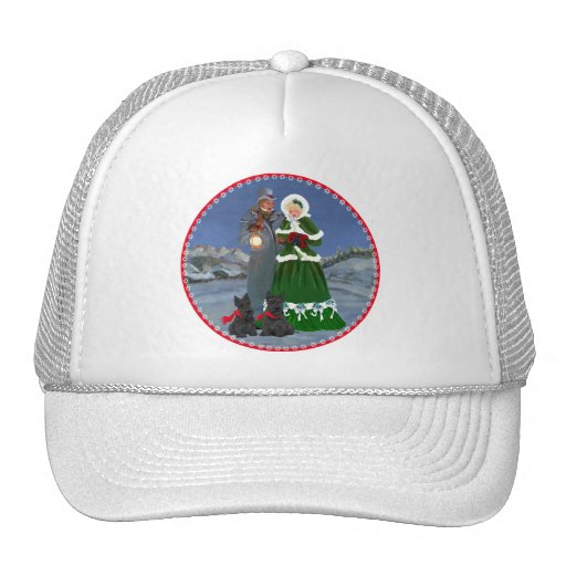 Scottish Terriers Christmas Carol Hats