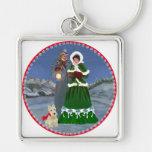Scottish Terriers Christmas Carols Keychain