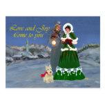 Scottish Terriers Christmas Carols Postcards
