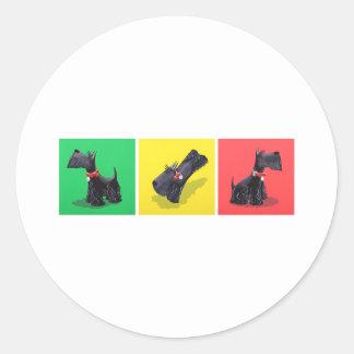Scottish Terriers Classic Round Sticker
