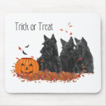 Scottish Terriers Halloween Mouse Pad