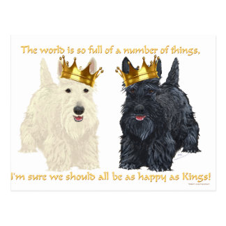 Scottish Terriers Happy Thoughts Postcard