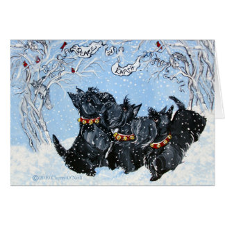 Scottish Terriers in the snow! Card