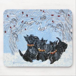 Scottish Terriers in the snow! Mouse Pad