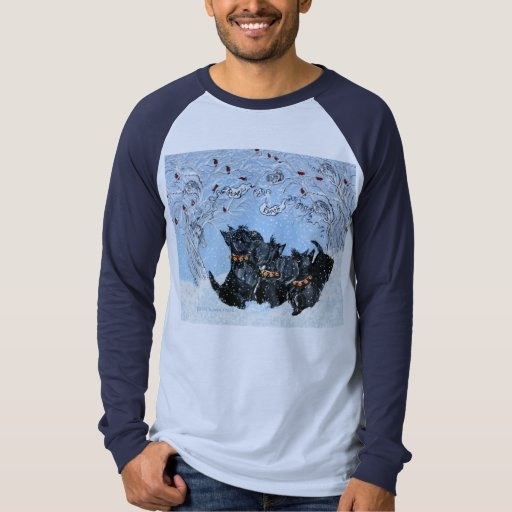 Scottish Terriers in the snow! T-shirts